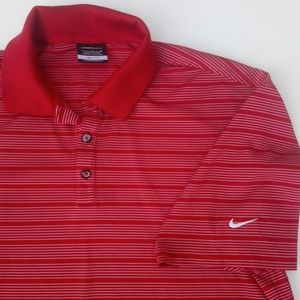 NIKE DRI-FIT golf men's polo red Large